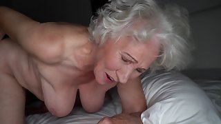 Grey-haired cunt of chunky granny gets pounded by young shine