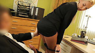 LOAN4K. Blondie horny with pigtail is owned overwrought loan...