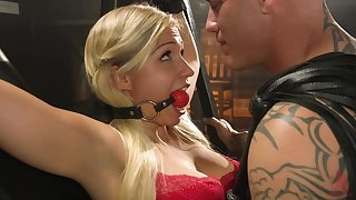 BDSM and a slave role is amazing experience with blonde girl Gabi Gold